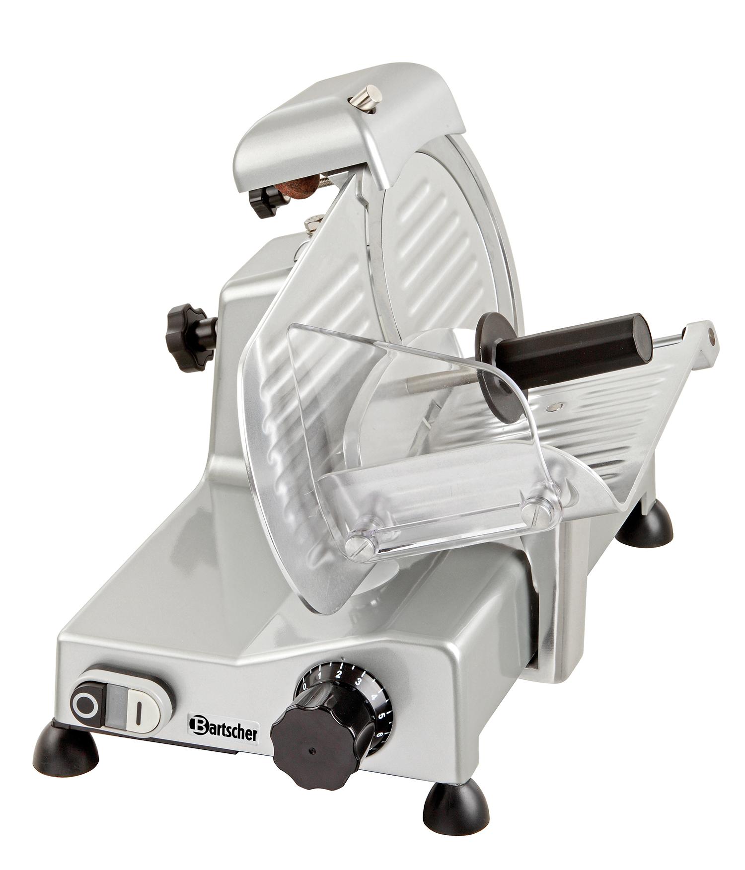 Bartscher Aufschnittmaschine Wurstschneidemaschine mit Messerschärfer 220 mm NEU